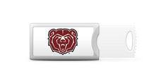 Mississippi State University Custom Logo USB Drive Push 16GB Silver