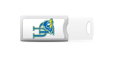 University of Delaware Custom Logo USB Drive Push 16GB Silver