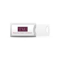 Texas Southern University Custom Logo USB Drive Push 16GB Silver