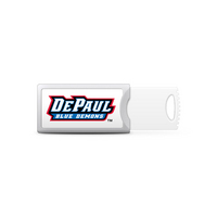 DePaul University Custom Logo USB Drive Push 16GB Silver
