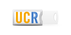 University of California Riverside Custom Logo Push USB Drive 32GB Silver