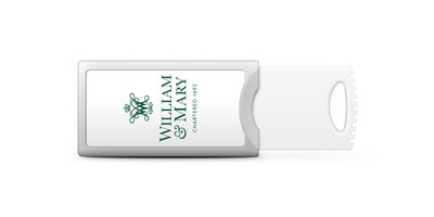 William & Mary Custom Logo USB 2.0 Push Drive, 32GB