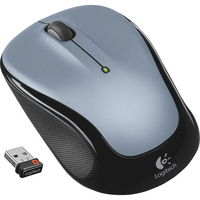 Logitech M325 Silver and Black Wireless Optical Laser Mouse with USB Receiver
