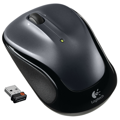 Logitech M325 Black Wireless Optical Laser Mouse with USB Receiver