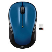 Logitech M325 Blue and Black Wireless Optical Laser Mouse with USB Receiver
