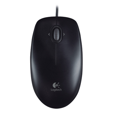 Logitech M100 Black Wired Optical Mouse with USB Connectivity