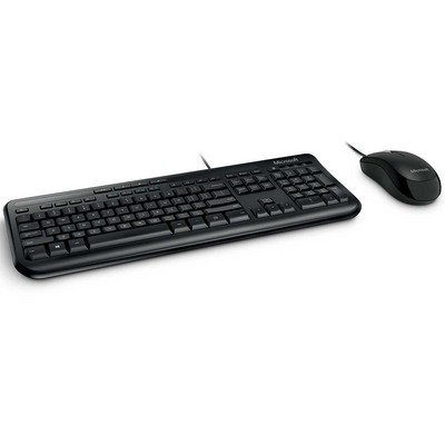 Microsoft Wired Desktop 600 Keyboard and Mouse Combo in Black