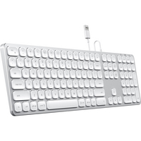 Satechi Aluminum Wired USB Keyboard, Silver