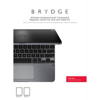 Brydge 12.9 Aluminium Bluetooth Keyboard, iPad Pro 12.9, Space Gray