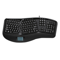 Adesso TruForm 450 Ergonomic Keyboard with Touchpad in Black