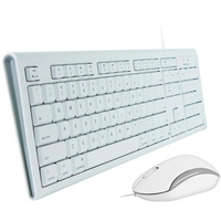 Macally Full Size USB Keyboard and Optical USB Mouse Combo For Mac