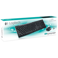 Logitech MK270 Wireless Keyboard and Mouse Combo in Black