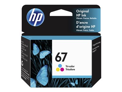 HP 67  DYEBASED TRICOLOR  ORIGINAL  INK CARTRIDGE