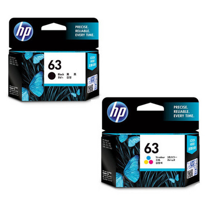 HP L0R46AN#140 2PK CLR Black 63 INK CART 11678467