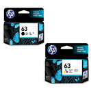 HP L0R46AN#140 2 PACK CLR BLACK 63 INK CARTRIDGE