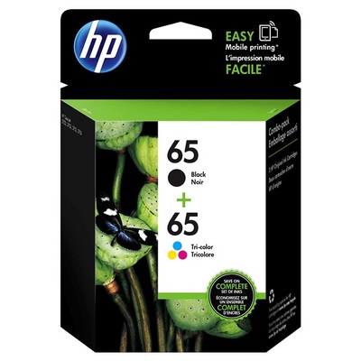 HP 2PK 65 Color Black INK CART COMBO  13199684