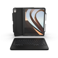 ZAGG Rugged Book Go Keyboard and Cover Book Fold Case for 11 Apple iPad Pro in Black