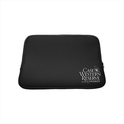 Case Western Reserve University Custom Logo Neoprene Sleeve Black 13in