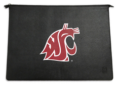 Centon Washington State University Black Leather Laptop Sleeve, Classic  13