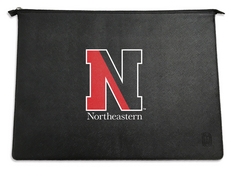 Centon Northeastern University V2 Black Leather Laptop Sleeve, Classic  13