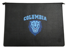 Centon Columbia University Black Leather Laptop Sleeve, Classic  13