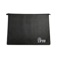 Black Leather Laptop Sleeve, Alumni V2  14