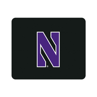 Centon Northwestern University Black Mouse Pad, Classic V1