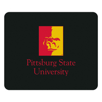 Pittsburg State University Custom Logo Mouse Pad, Black