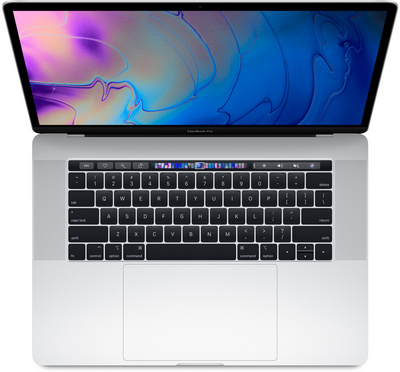 New 15 inch MacBook Pro with Touch Bar 2.2GHz 256GB Storage Silver