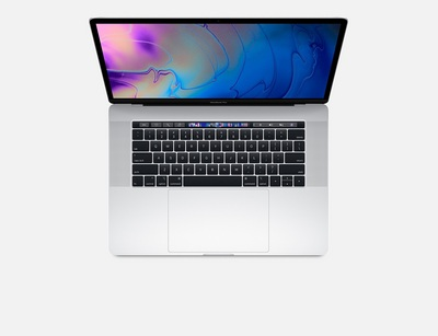 New 15inch MacBook Pro with Touch Bar 2.6GHz 6core 9thGen Intel Core i7 processor, 256GB Silver