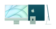 24inch iMac with Retina 4.5K display Apple M1 chip with 8core CPU and 8core GPU, 512GB  Green