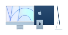 24inch iMac with Retina 4.5K display Apple M1 chip with 8core CPU and 8core GPU, 512GB  Blue