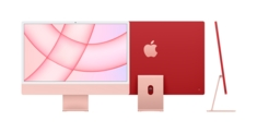 24inch iMac with Retina 4.5K display Apple M1 chip with 8core CPU and 8core GPU, 512GB  Pink