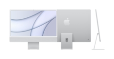 24inch iMac with Retina 4.5K display Apple M1 chip with 8core CPU and 7core GPU, 256GB  Silver