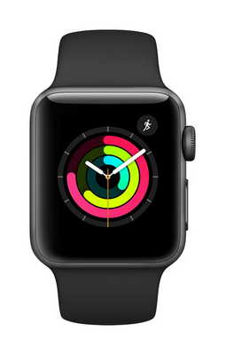 Apple Watch Series 3 GPS, 38mm Space Gray Aluminum Case with Sport Band