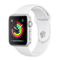 Apple Watch Series 3 GPS, 42mm Silver Aluminum Case with Sport Band