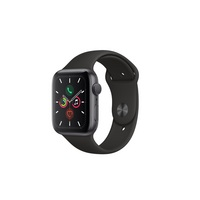 Apple Watch Series 5 GPS  Cellular, 44mm Space Gray Aluminum Case with Black Sport Band