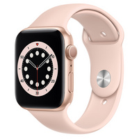 Apple Watch Series 6 GPS, 44mm Gold Aluminum Case with Pink Sand Sport Band  Regular