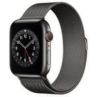 Apple Watch Series 6 GPS  Cellular, 44mm Graphite Stainless Steel Case with Graphite Milanese Loop