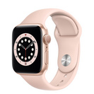 Apple Watch Series 6 GPS, 40mm Gold Aluminum Case with Pink Sand Sport Band  Regular