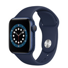 Apple Watch Series 6 GPS, 40mm Blue Aluminum Case with Deep Navy Sport Band  Regular