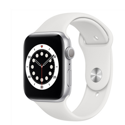 Apple Watch Series 6 GPS, 40mm Silver Aluminum Case with White Sport Band  Regular