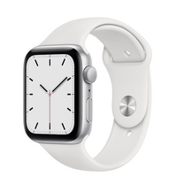 Apple Watch SE GPS, 40mm Silver Aluminum Case with White Sport Band  Regular