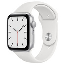 Apple Watch SE GPS, 44mm Silver Aluminum Case with White Sport Band  Regular
