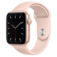 Apple Watch SE GPS, 44mm Gold Aluminum Case with Pink Sand Sport Band  Regular
