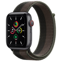 Apple Watch SE GPS  Cellular, 44mm Space Gray Aluminum Case with TornadoGray Sport Loop