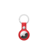 AirTag Leather Key Ring  (PRODUCT)RED