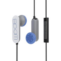 BOOM MOVEMENT Spooner In Ear Earbud Headphones with Mic  White