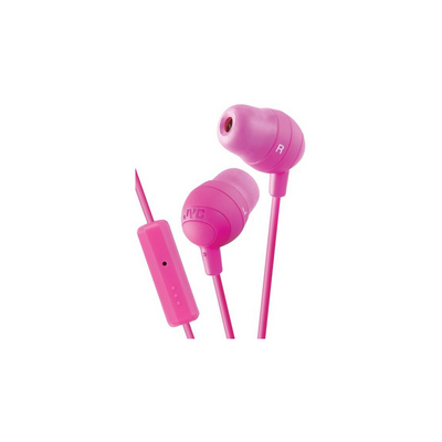 JVC Marshmallow Headphones with Mic, Pink