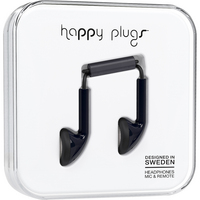 Happy Plugs 7705 Earbud wMic, Black